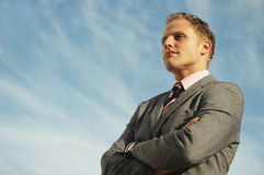 Businessman Leader stock photo