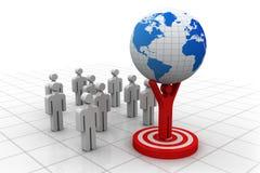 Businessman, leader  lifting world Stock Photos