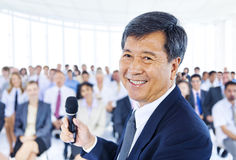 Businessman Leadership Presentation Cooperation Concept Stock Photos