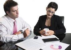 Businessman leading business team Stock Photos