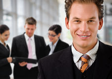 Businessman leading business team Royalty Free Stock Photos
