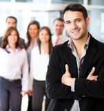 Businessman leading a group Royalty Free Stock Photography