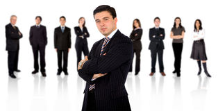 Businessman leading a team Stock Image