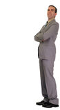 Businessman Leaning Royalty Free Stock Photo