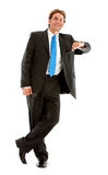 Businessman leaning on something Royalty Free Stock Photos