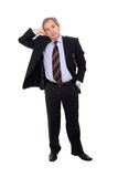 Businessman leaning to the right Royalty Free Stock Photography