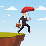 Businessman leap of faith concept Stock Photo