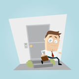 Businessman leaving home clipart Stock Image