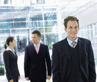 Businessman leaving office Royalty Free Stock Image