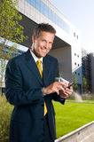 Businessman lifestyle outdoor Royalty Free Stock Image