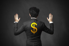 Businessman lifting hands up arrested dollar Royalty Free Stock Photo