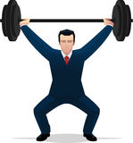Businessman lifting weights Royalty Free Stock Photo