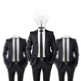Businessman with light bulb head, creativity in business concept Stock Photo