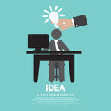 Businessman With A Light Bulb Idea Concept Royalty Free Stock Image