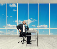 Businessman in the light office Stock Image