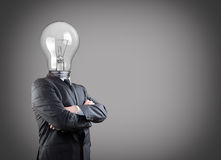 Businessman with idea Royalty Free Stock Image