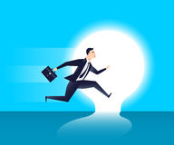 Businessman with lightbulb idea business concept.  Stock Photos