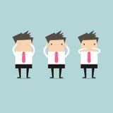 Businessman like three little monkeys 3 close Stock Photography