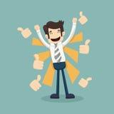 Businessman like , thumbs up vector illustration