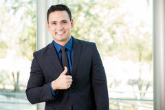 This businessman likes it Royalty Free Stock Photos