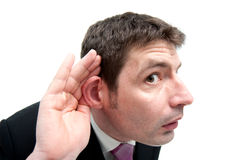 Businessman Listening Royalty Free Stock Photo