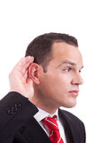 Businessman, listening Royalty Free Stock Images