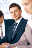 Businessman Listening. Stock Image