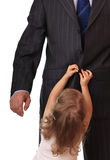 Businessman with little daughter. Stock Photography