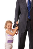 Businessman with little daughter. Royalty Free Stock Image