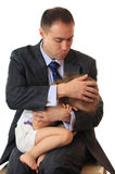 Businessman with little daughter. Stock Image