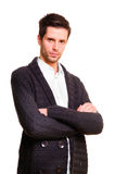 Businessman in a long coat Royalty Free Stock Photography
