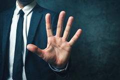 Businessman with long fingers Royalty Free Stock Image