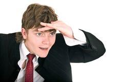 Businessman look forward in future. Royalty Free Stock Photos