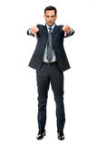 Businessman looking angry Royalty Free Stock Image