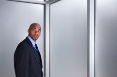 Businessman looking anxious Royalty Free Stock Photos