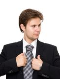 Businessman looking aside Royalty Free Stock Images