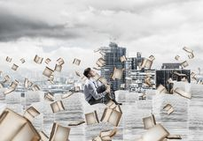 Study hard to become successful businessman. Stock Photography
