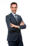 Businessman looking at camera with crossed arms Stock Photo