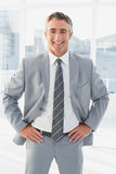 Businessman looking at the camera Royalty Free Stock Photography