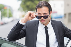Businessman looking at the camera Stock Image