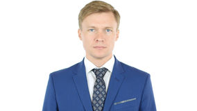 Businessman looking at camera with reliability Stock Photography