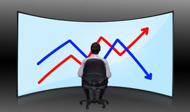 Businessman looking at chart Stock Photo
