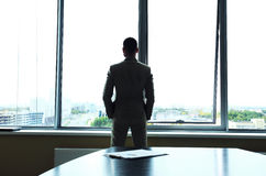 Businessman looking at city Royalty Free Stock Photos