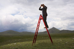 Businessman Looking Into The Distance Stock Images