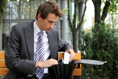 Businessman looking at the documents Stock Photo