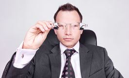 Businessman looking forward Stock Images