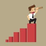Businessman looking future Stock Image