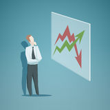 Businessman looking at the graph Stock Photo