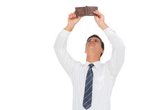 Businessman looking at his empty wallet Stock Photos