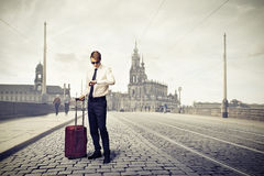 Businessman looking at his watch Royalty Free Stock Photography